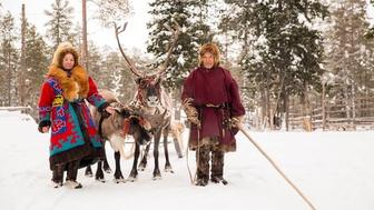 Reindeer herders are seen near Numto Lake in western Siberia Russias recent decision to redraw park boundaries to allow oil development in the area has prompted protests from Indigenous people