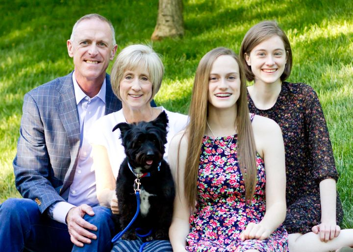 From left: Rick, Susan, Brooke and Kate with their dog Charlie