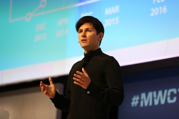 Telegram founder and CEO Pavel Durov at the Fira Gran Via complex in Barcelona, Spain on February 23,
