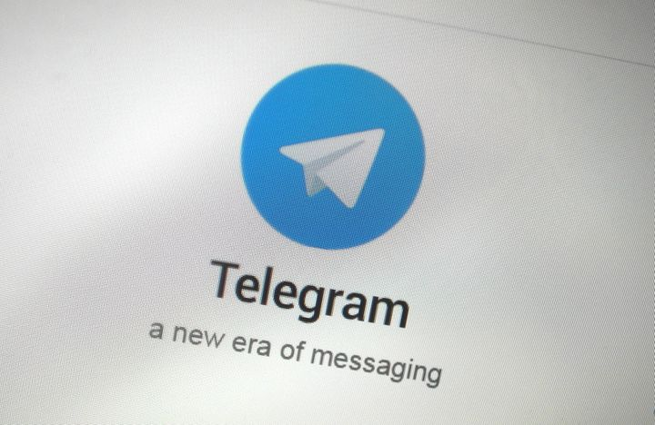 The Telegram messaging app logo is seen on a website in Singapore Nov. 19, 2015.