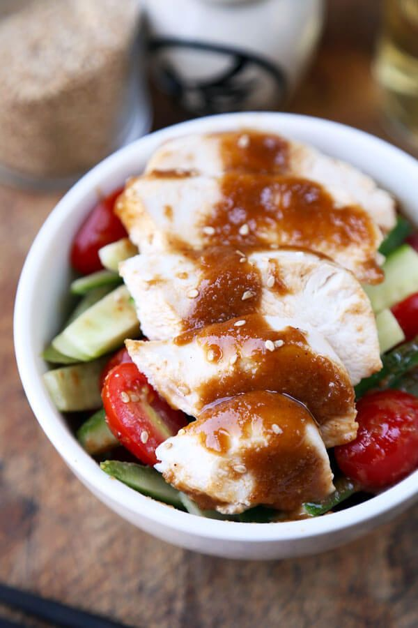 """<a rel=""""nofollow"""" href=""""http://www.pickledplum.com/poached-chicken-with-sesame-sauce-recipe/"""" target=""""_blank"""">Poached Chicken"""