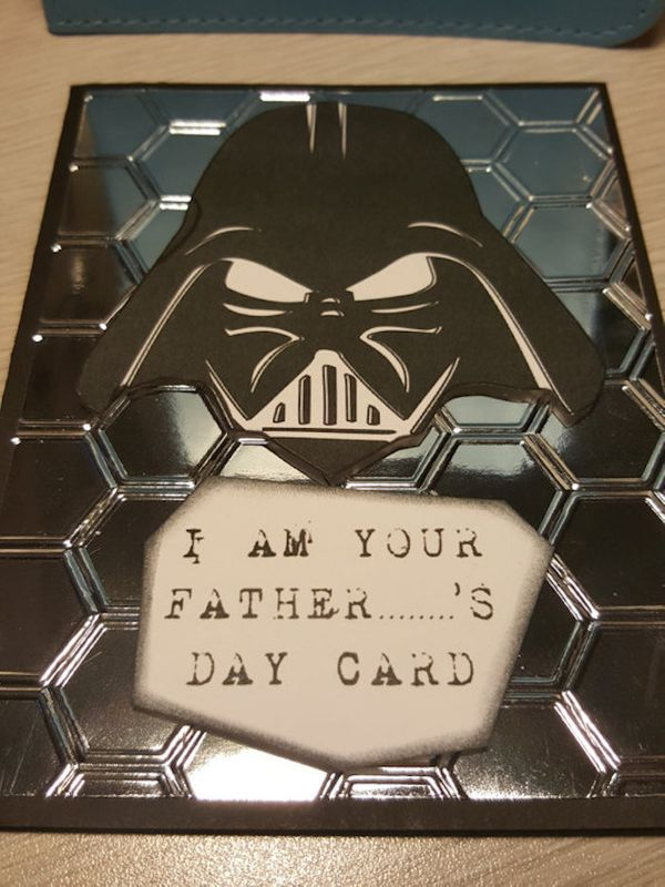 """$4.59, Art Cards N Creations. <a href=""""https://www.etsy.com/listing/495944704/handmade-fathers-day-card-darth-vader"""" target="""""""