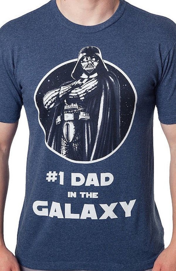 """$33.02, 80sTees.com. <a href=""""https://www.80stees.com/products/1-dad-in-the-galaxy-star-wars-t-shirt"""" target=""""_blank"""">Buy her"""