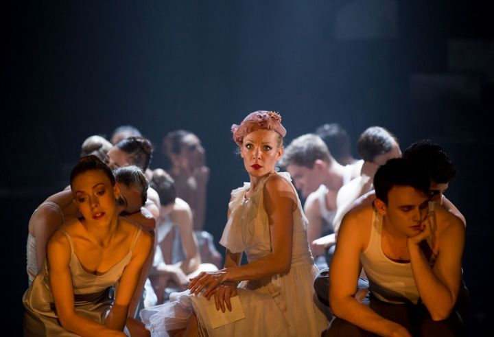 Eve Mutso as Blanche DuBois with Company dancers in Nancy Meckler and Annabelle Lopez Ochoa' s A Streetcar Named Desire