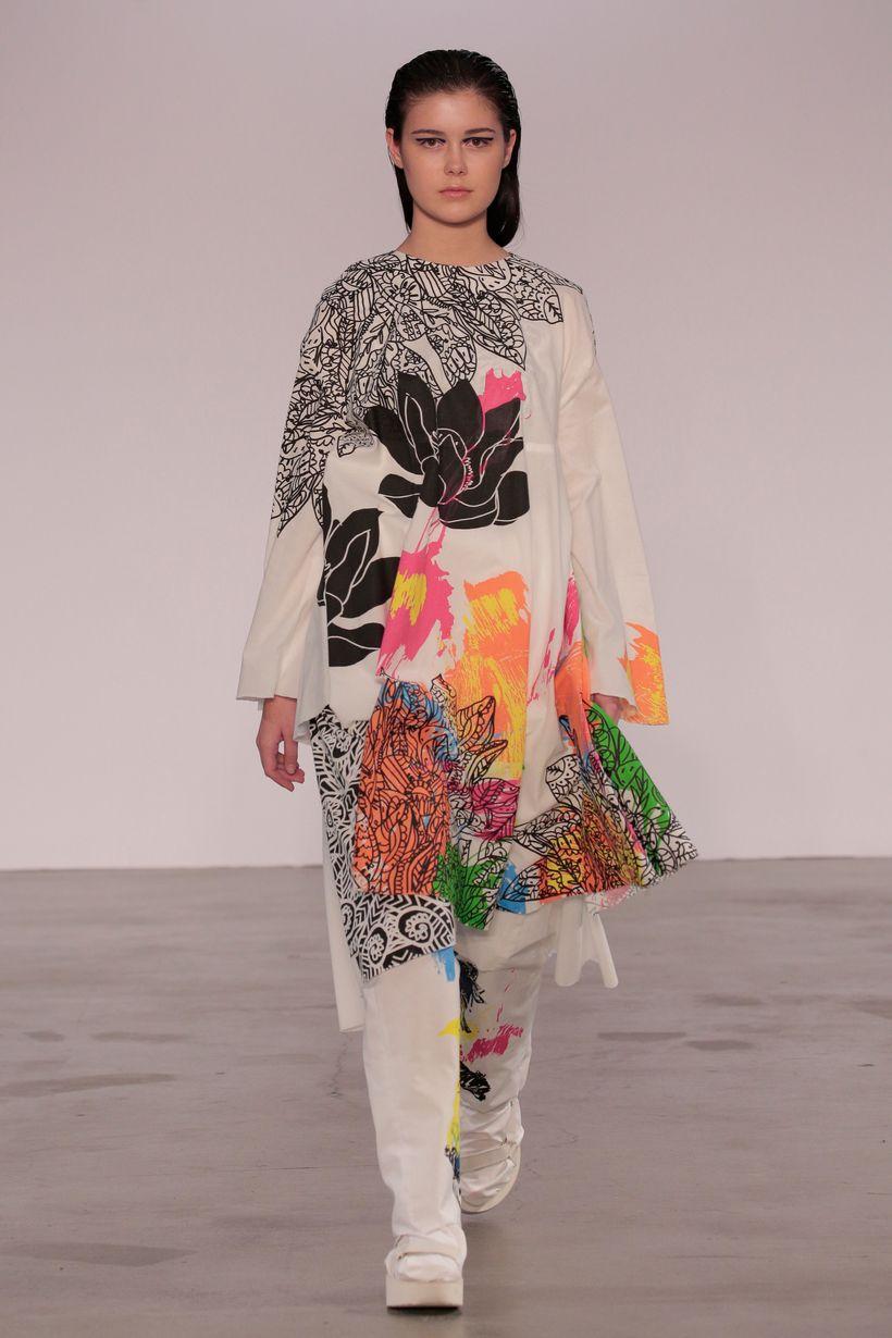 Aastha Shah (BFA Fashion Design) and Peggy Kuo (BFA Textile Design)