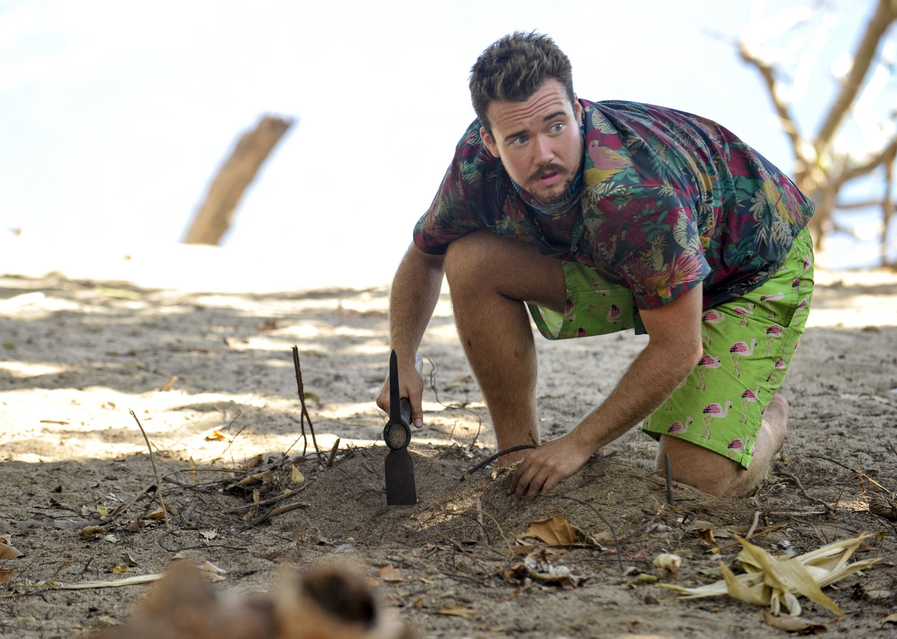 MANA ISLAND - JUNE 21: 'What Happened on Exile, Stays on Exile' - Zeke Smith on the seventh episode of SURVIVOR: Game Changers, airing Wednesday, April 12 (8:00-9:00 PM, ET/PT) on the CBS Television Network. (Photo By Jeffrey Neira/CBS via Getty Images)