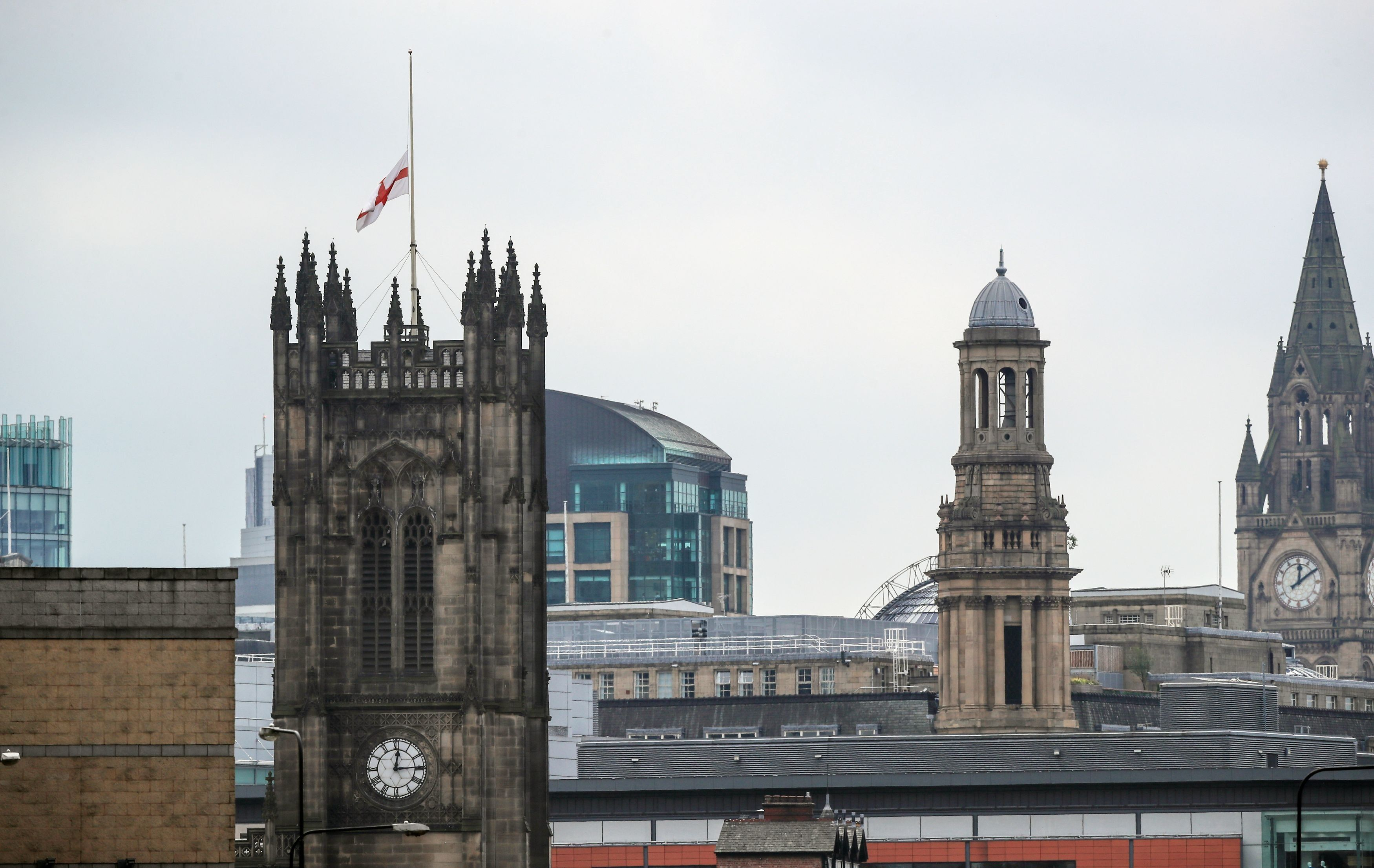 Manchester Cathedral's flag has been flown at half-mast following the bombing that claimed the lives...