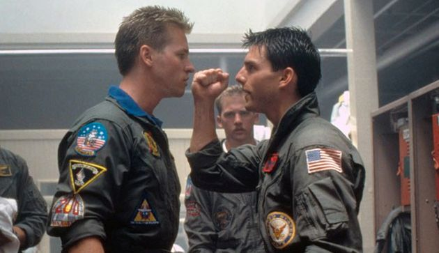 Val Kilmer and Tom Cruise were rivals in the original