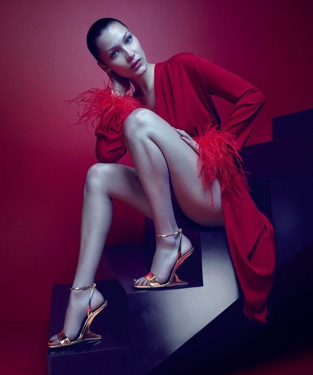 Bella Hadid Stars In Guiseppe Zanotti's Latest Sensual Campaign, And Nails