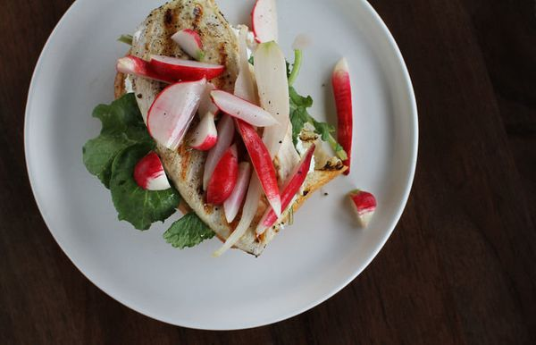 "<strong>Get the<a href=""https://food52.com/recipes/22069-grilled-chicken-sandwich-with-radish-pickles-greens"" target=""_blank"""