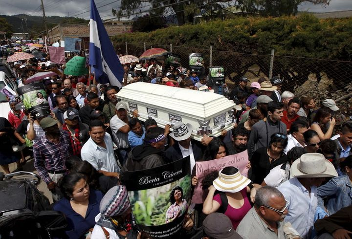 Berta Caceres is one of the many environmental activists murdered in Latin America.