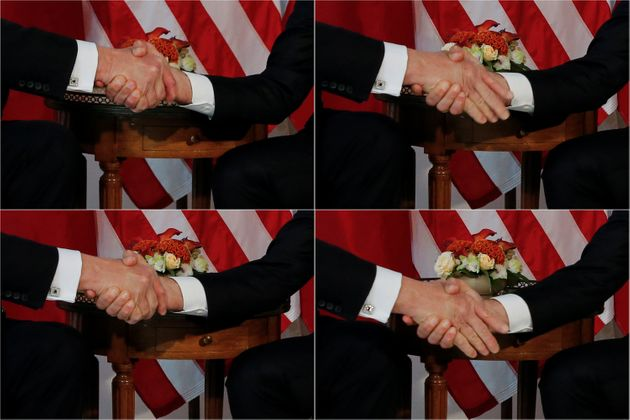 Trump's Hands Are No Match For Emmanuel Macron's