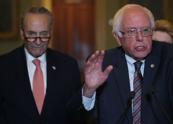 "Senate Minority Leader Chuck Schumer (D-N.Y.) is ""feeling the bern"" when it comes to the $15 minimum wage."