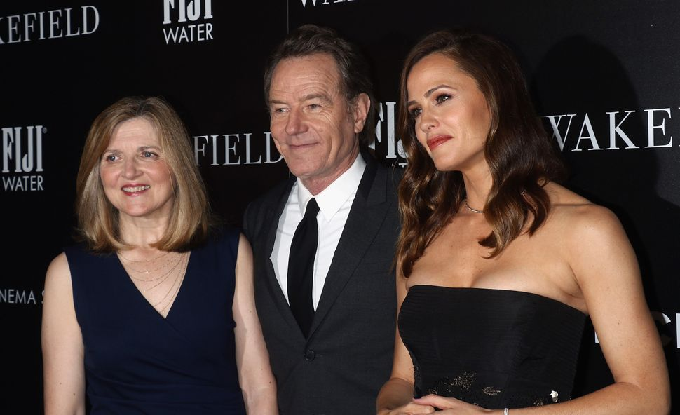 "Director Robin Swicord, actors Bryan Cranston and Jennifer Garner at the ""Wakefield"" premiere."