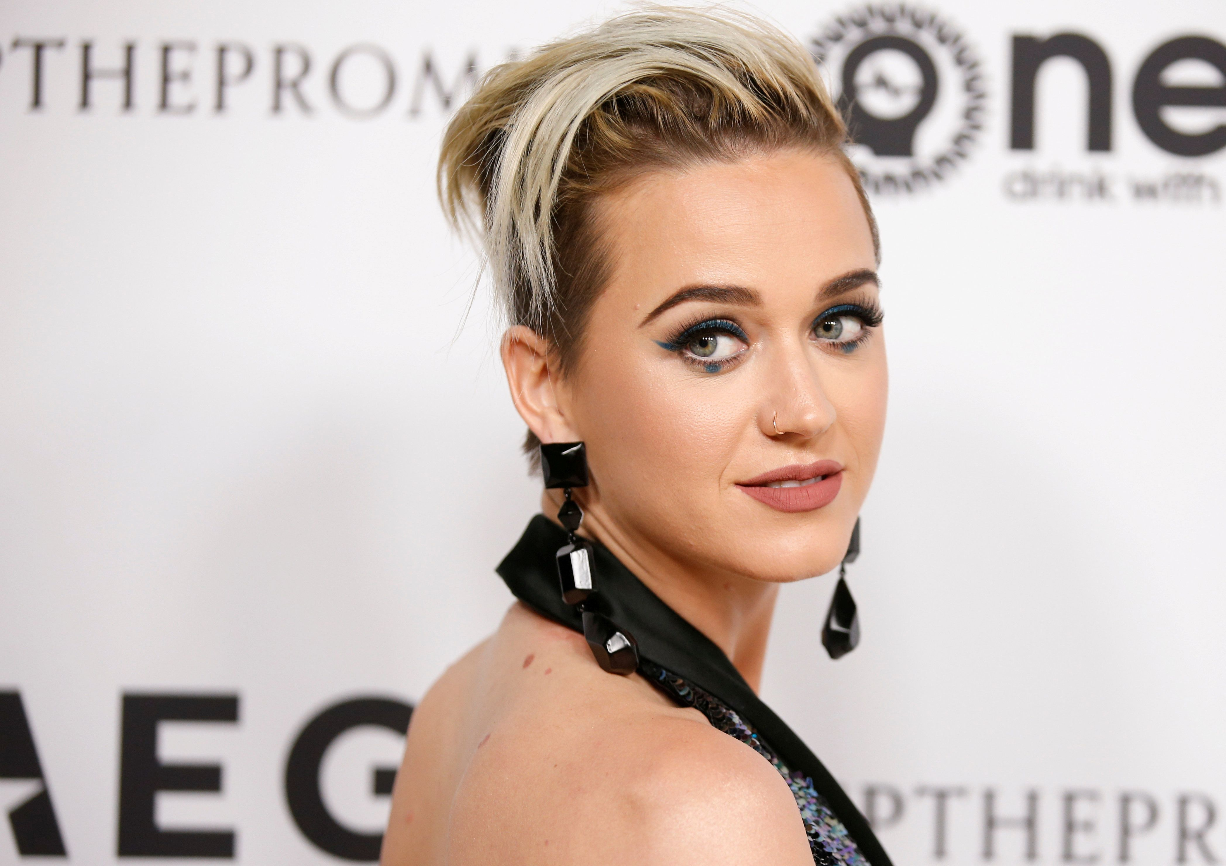 FILE PHOTO: Singer Katy Perry poses at Elton John's 70th Birthday and 50-Year Songwriting Partnership with Bernie Taupin benefiting the Elton John AIDS Foundation and the UCLA Hammer Museum at RED Studios Hollywood in Los Angeles, California, U.S. on March 25, 2017. REUTERS/Danny Moloshok/File Photo