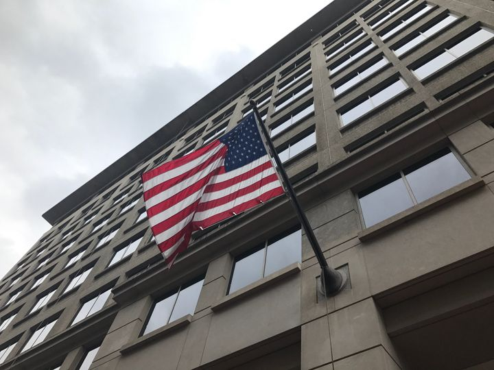 Mueller has established an office at the Patrick Henry Building at Sixth and Dstreets Northwestin Washington, nea