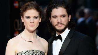 LONDON, ENGLAND - APRIL 03:  (L-R) Rose Leslie and Kit Harington attend The Olivier Awards with Mastercard at The Royal Opera House on April 3, 2016 in London, England.  (Photo by Jeff Spicer/Getty Images)