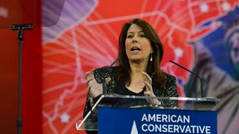 OXON HILL, MD - FEBRUARY 26: Tammy Bruce, who described herself as conservative and gay, addresses the crowd during CPAC2105 (Conservative Political Action Conference) at the Nation Harbor Gaylord on Thursday, February 26, 2015, in Oxon Hill, MD. The three-day conference features many of the people including Christie, who are exploring the possibility of running for the Republican Party nominee for president of the United States in the 2016 presidential election. (photo by jahi chikwendiu/The Washington Post via Getty Images)