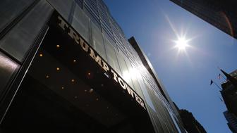 A general view of the Trump Tower on the 5th avenue is seen on April 08, 2017 in New York / AFP PHOTO / Kena Betancur        (Photo credit should read KENA BETANCUR/AFP/Getty Images)