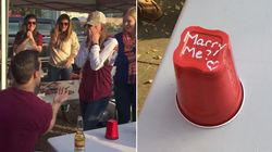 This Guy Proposed To His Girlfriend During A Game Of Flip