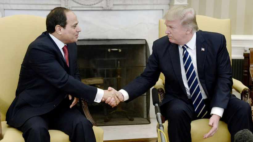 <em>Egyptian President Abdel Fattah el - Sisi and the U.S. President Donald Trump at the White House</em>