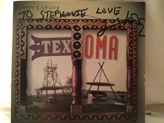 Jimmy signed my Texoma CD the night in Virginia we chatted for almost an hour after one of his shows.  Summer 2001.