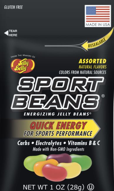 "Jelly Belly's Sport Beans are advertised as a product that gives athletes ""quick energy."""