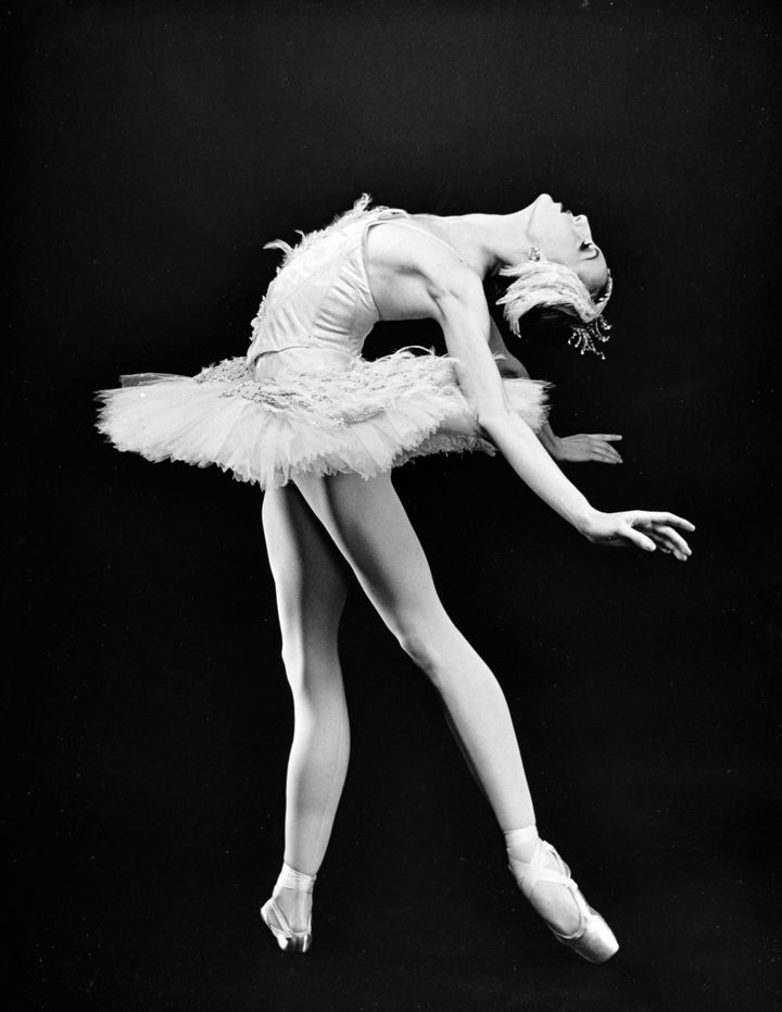 "Whelan in costume for ""Swan Lake"" in 1993."