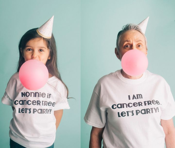 Three-year-old Scout paid tribute to her awesome grandmother with a fun photo shoot.
