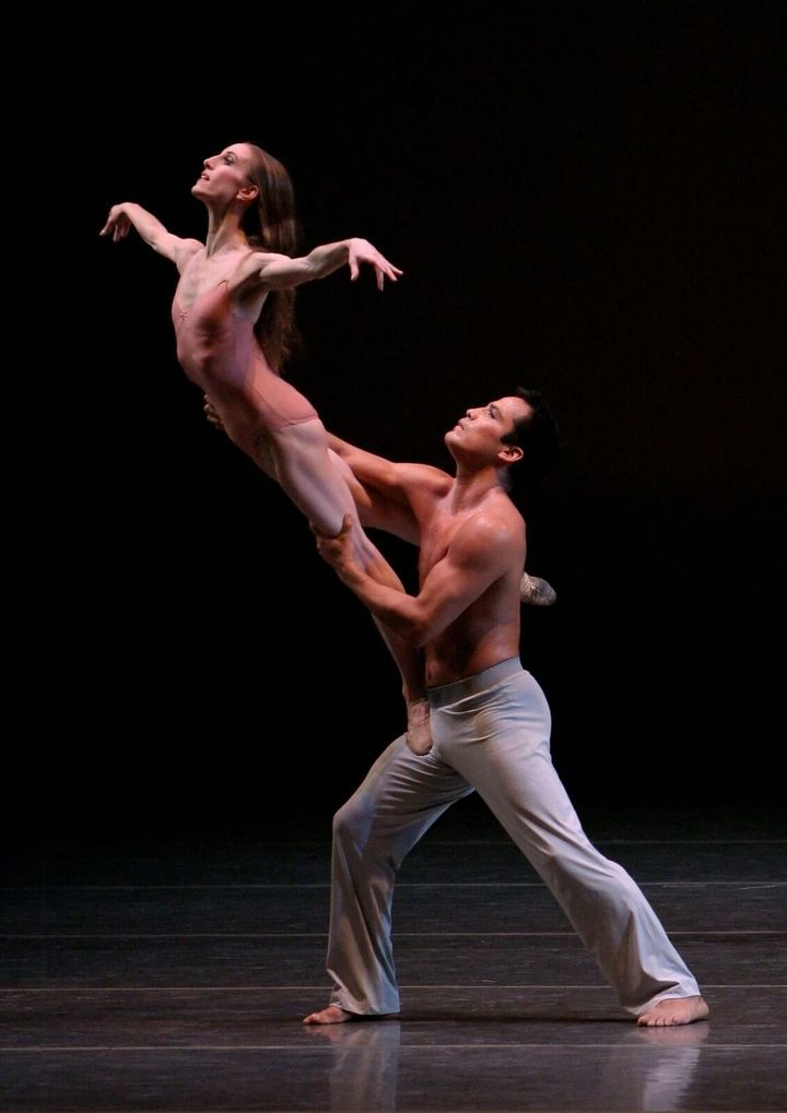 "Whelan dances with Jock Soto in Christopher Wheeldon's ""After The Rain."""