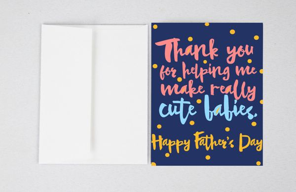 """$4, <a href=""""https://www.etsy.com/listing/236710103/cute-babies-card-funny-fathers-day-card"""" target=""""_blank"""">LivetoLovePrints"""