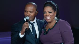 CHICAGO, IL - MAY 17: Jamie Foxx and Oprah attend Surprise Oprah! A Farewell Spectacular at the United Center on May 17, 2011 in Chicago, Illinois. (Photo by Daniel Boczarski/Getty Images)
