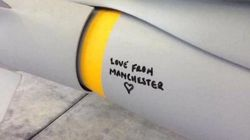 RAF Bomb Heading For Islamic State Target Pictured With 'Love From Manchester' Message Scrawled
