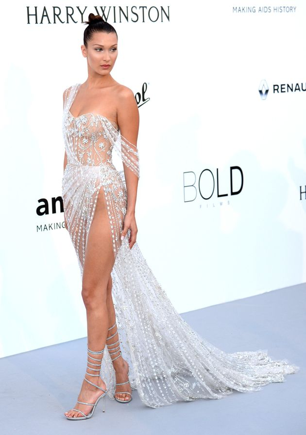 Bella Hadid arrives at the amfAR Gala Cannes 2017 at Hotel du Cap-Eden-Roc on 25 May 2017 in Cap d'Antibes,