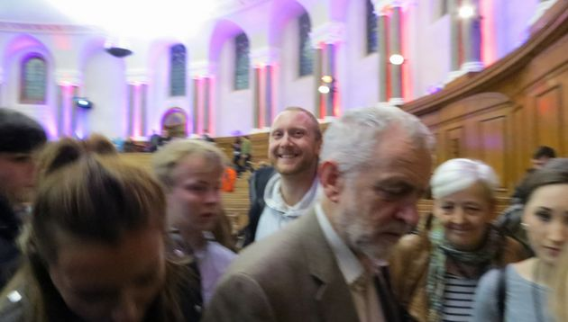 A photo posted on Daniel Ewen's Facebook page of the former local Labour vice chairman 'photo bombing'...