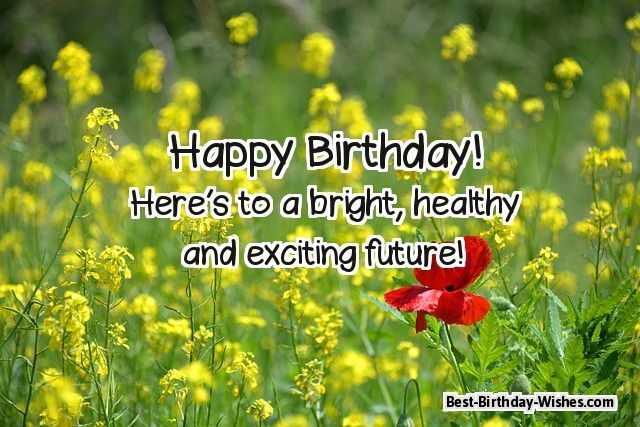 35 happy birthday wishes quotes messages with funny romantic happy birthday heres to a bright healthy and exciting future m4hsunfo