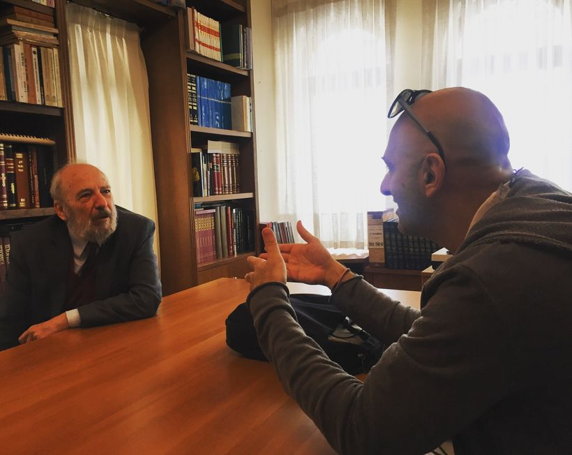 Professor Petros Vassiliadis, president of the Center of Ecumenical, Missiological and Environmental Studies (CEMES), catches