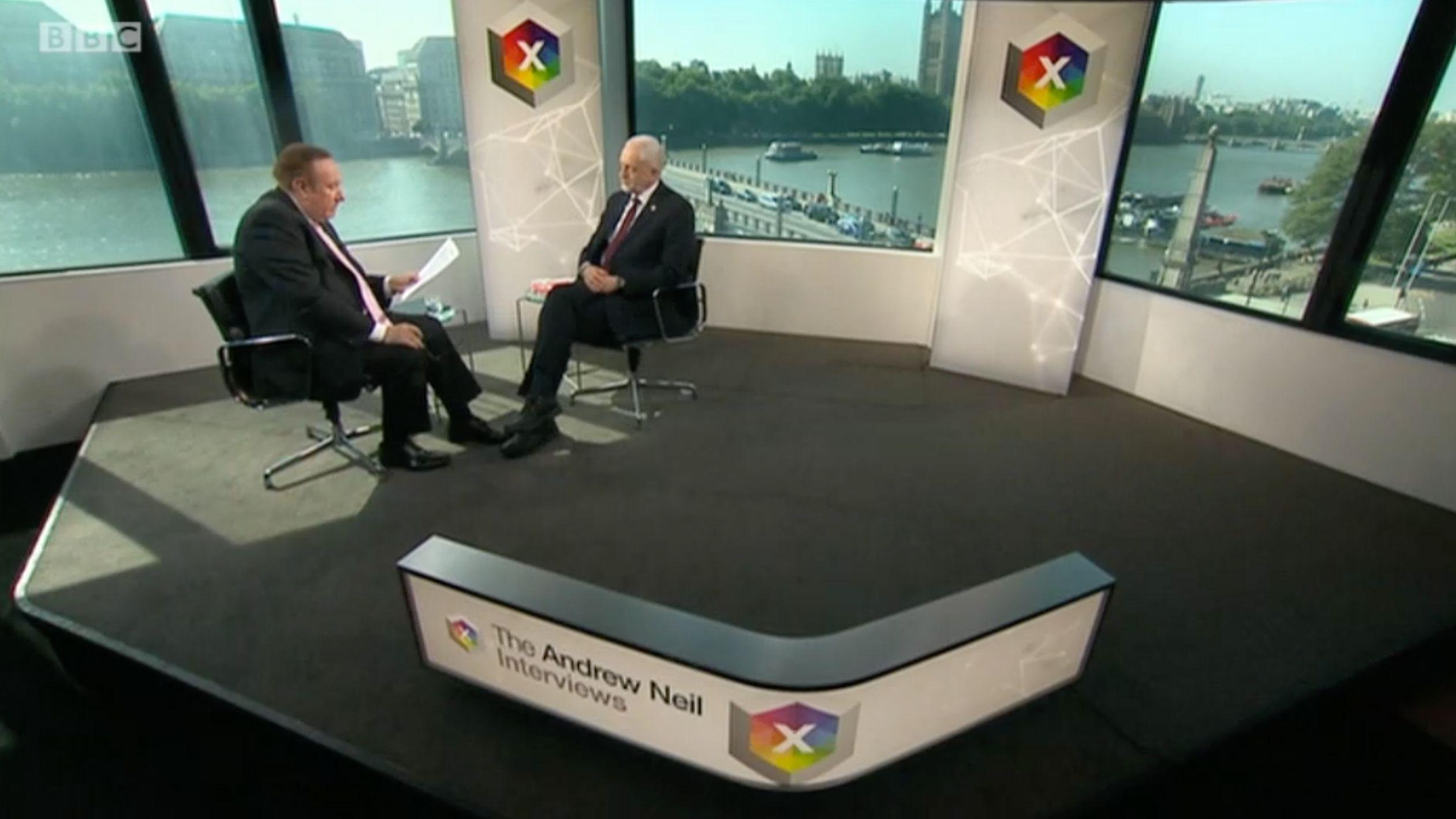 Andrew Neil interviewed Jeremy Corbyn on