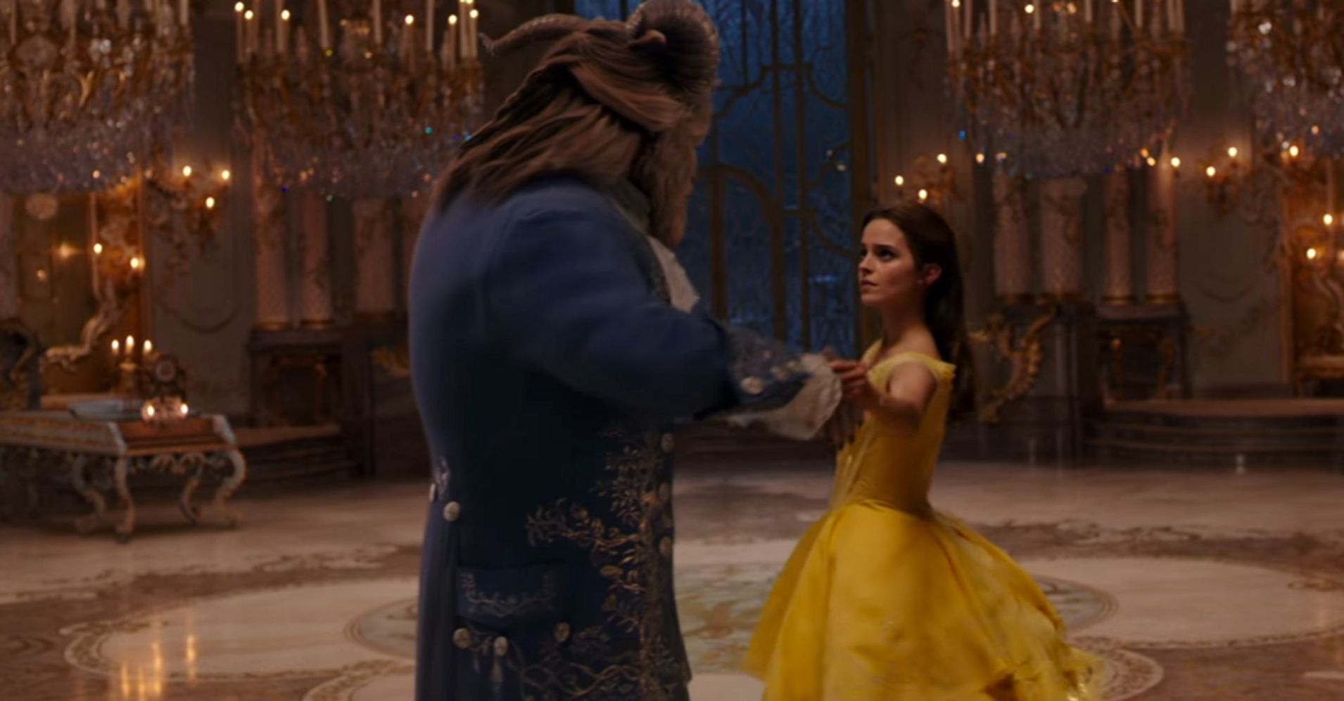 No One LOLs like Gaston Watching 'Beauty and the Beast' Without CGI