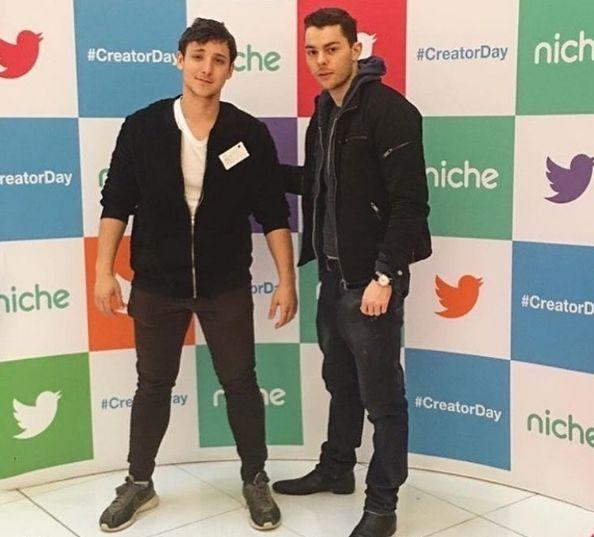 Oliverzok with Juliusdein at Twitter HQ