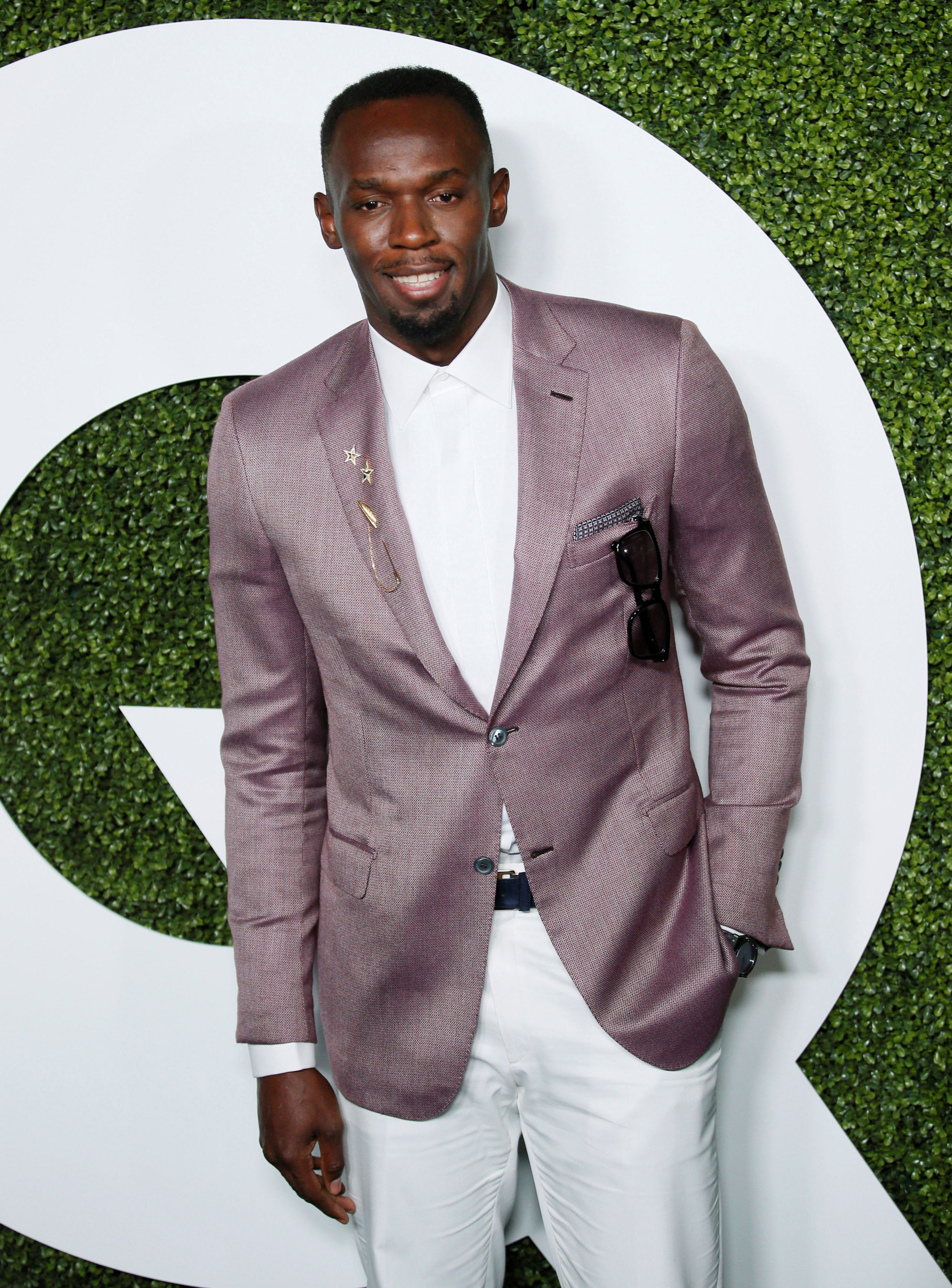 Jamaican sprinter and GQ Man of the Year Usain Bolt poses at the GQ Men of the Year Party in West Hollywood, California, December 8, 2016. REUTERS/Danny Moloshok