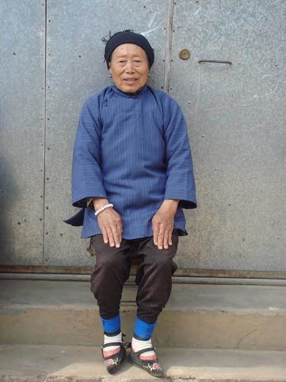 Laurel Bossen interviewed women in rural areas, like thewoman above, who were born when foot-binding was still accepted