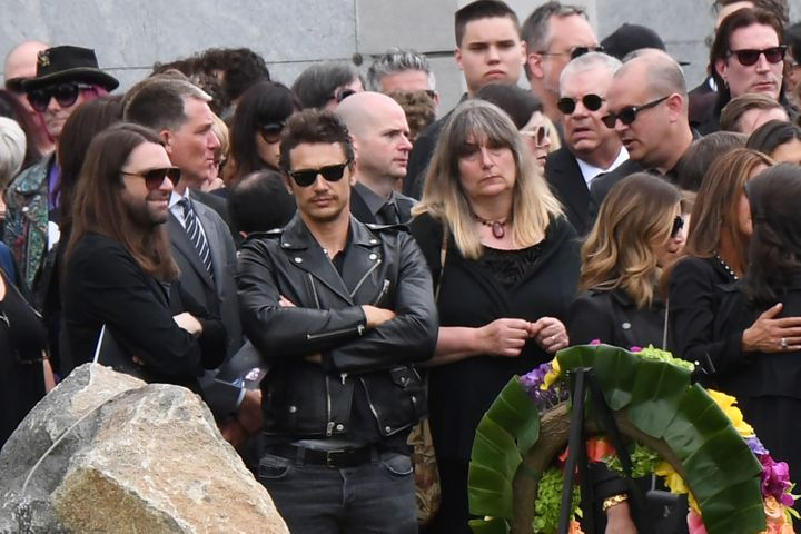 Actor James Franco attends the funeral and memorial service for Soundgarden frontman Chris Cornell, May 26, 2017 at Hollywood