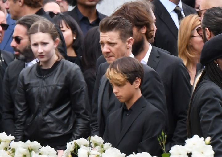Actor Jeremy Renner attends the funeral and memorial service for Soundgarden frontman Chris Cornell, May 26, 2017 at Hollywoo