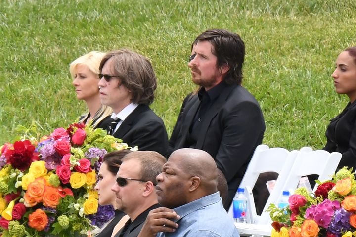 Actor Christian Bale attends the funeral and memorial service for Soundgarden frontman Chris Cornell, May 26, 2017 at Hollywo