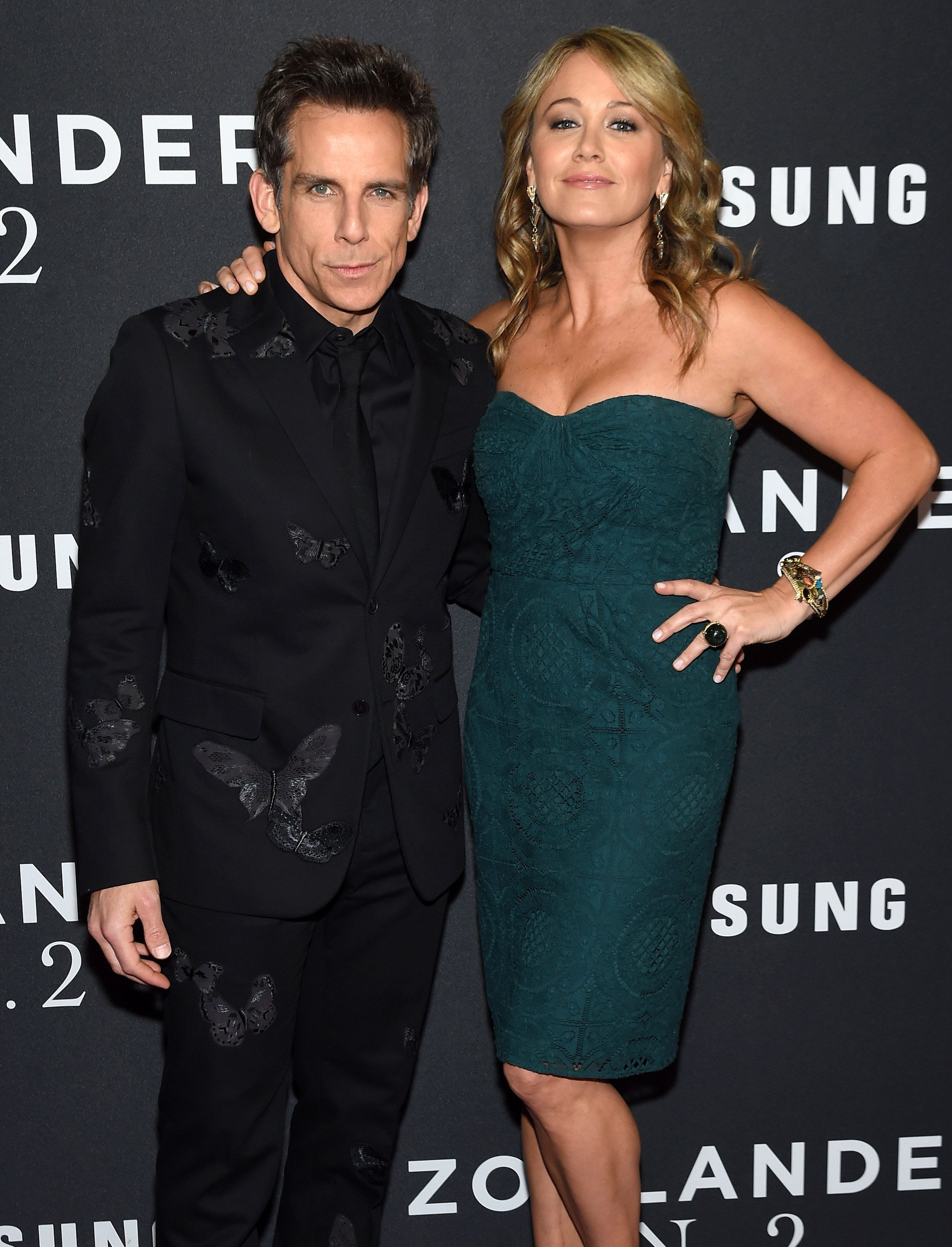 NEW YORK, NY - FEBRUARY 09:  Actors Ben Stiller (L) and Christine Taylor attend the 'Zoolander 2' World Premiere  at Alice Tully Hall on February 9, 2016 in New York City.  (Photo by Jamie McCarthy/WireImage)