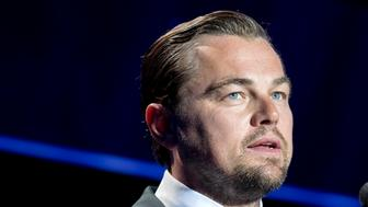 CAP D'ANTIBES, FRANCE - MAY 19:  Leonardo DiCaprio speaks on stage at the amfAR's 23rd Cinema Against AIDS Gala at Hotel du Cap-Eden-Roc on May 19, 2016 in Cap d'Antibes, France.  (Photo by Kevin Tachman/WireImage)