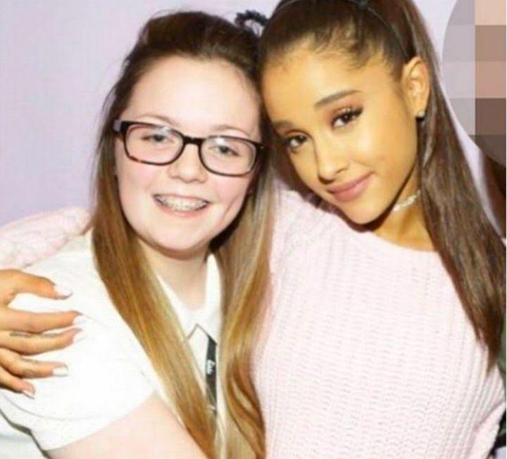 Georgina Callander with Ariana Grande.