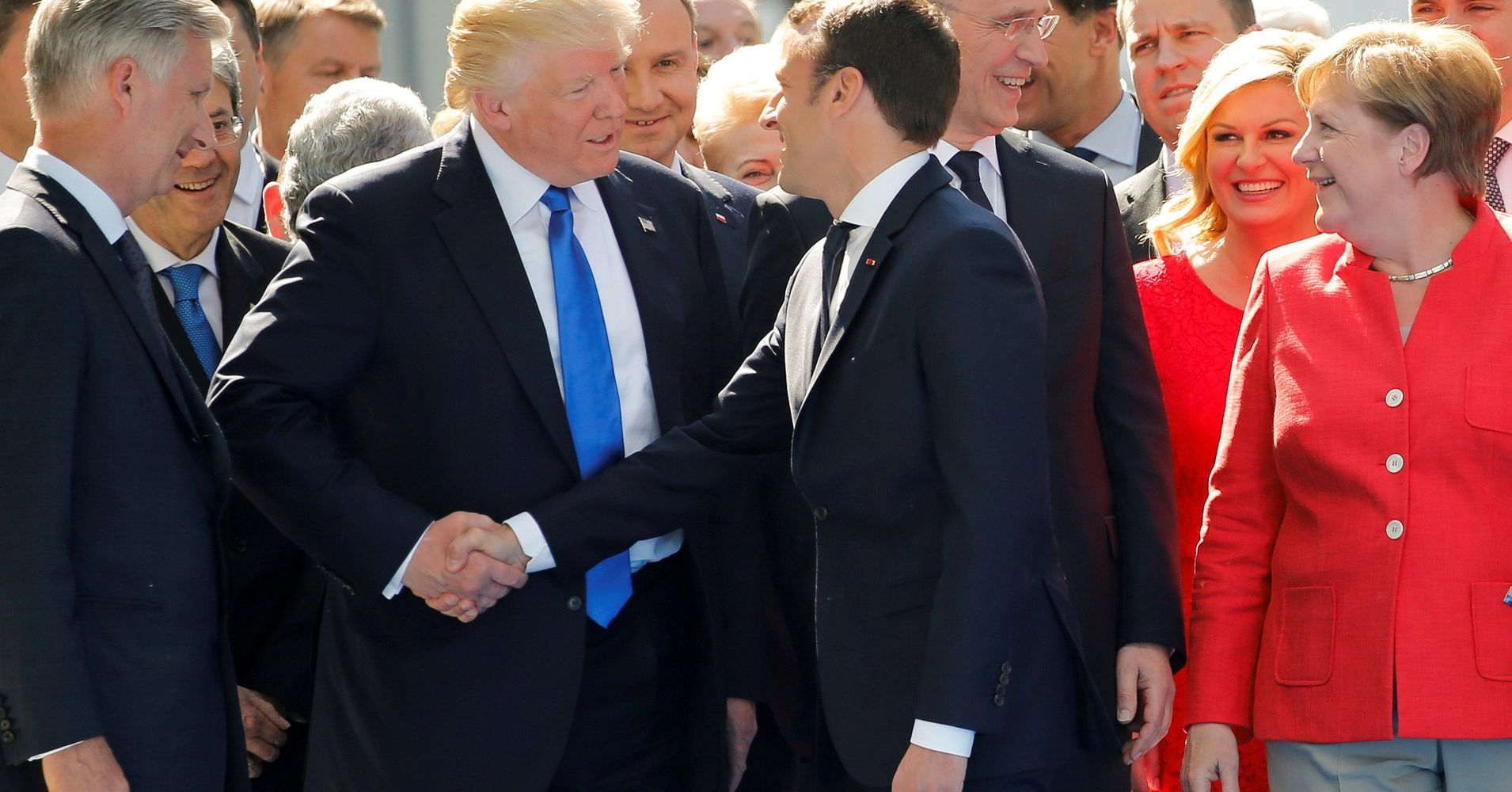 The madness and science behind the donald trump handshake huffpost kristyandbryce Choice Image