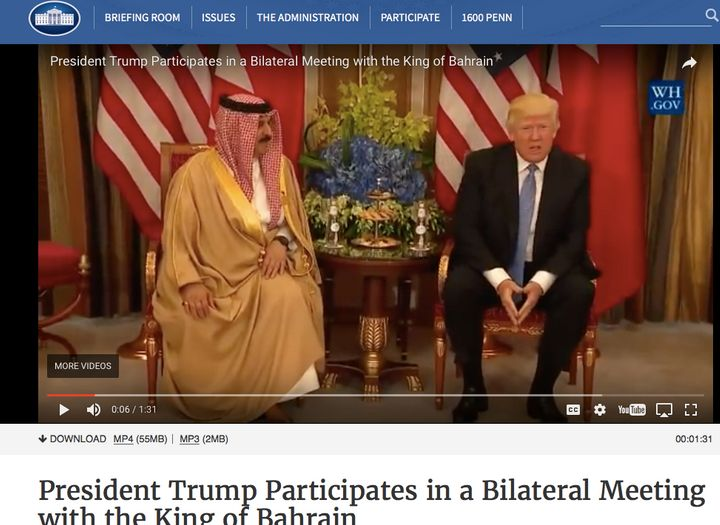 Last week's meeting between President Trump and the king of Bahrain was followed by a sharp rise in attacks on dissent in the